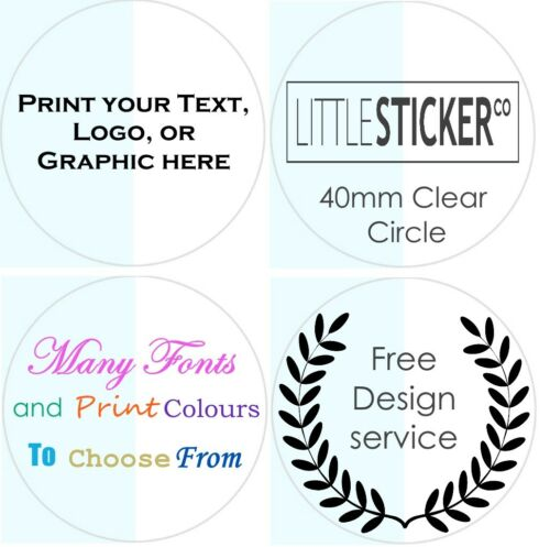 CLEAR Wedding Stickers Personalised Invitation labels custom envelope seals 50