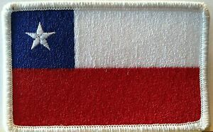 CHILE Flag Patch With VELCRO® Brand Fastener Tactical Military Police Emblem #2