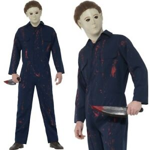 Mens Halloween Fancy Dress Michael Myers Halloween H20 Costume New ...