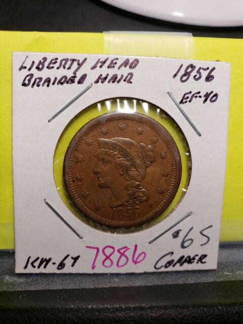 1856 Braided Hair Large Cent 7886
