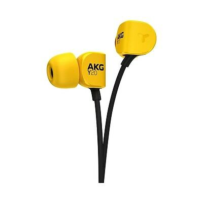 AKG Y20U In-Ear Wired Stereo Headphones Headsests With Mic Remote Control Yellow