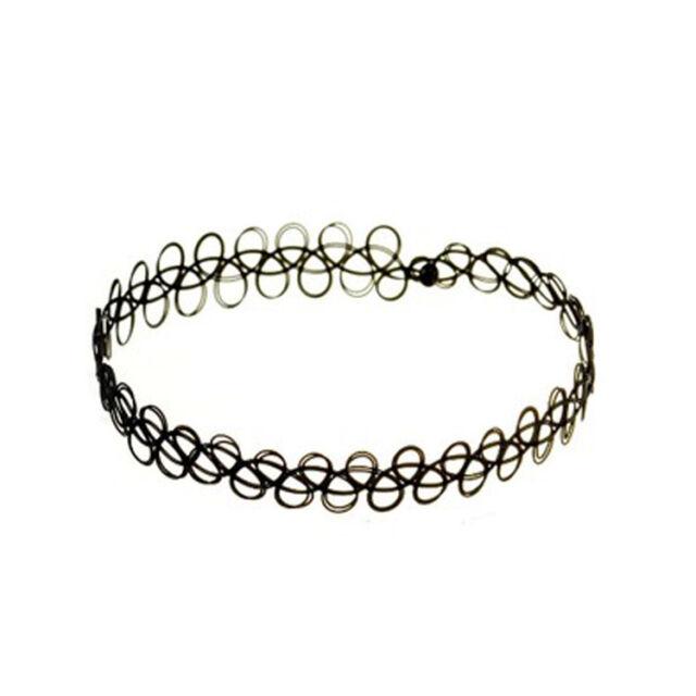 Fashion Elastic Stretch Tattoo Choker Necklace Ring Bracelet  Retro Gothic Punk