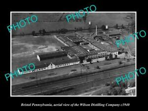 OLD-LARGE-HISTORIC-PHOTO-OF-BRISTOL-PENNSYLVANIA-THE-WILSON-DISTILLERY-c1940