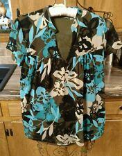 Liz Claiborne Womens Top Floral Design ~ Size S
