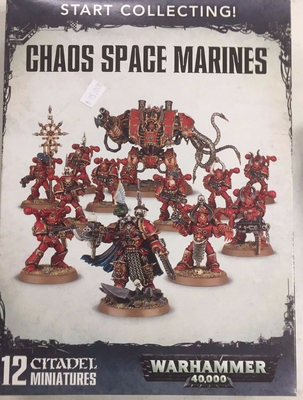Warhammer 40K START COLLECTING CHAOS SPACE MARINES Dreadnought & Lord & Squad
