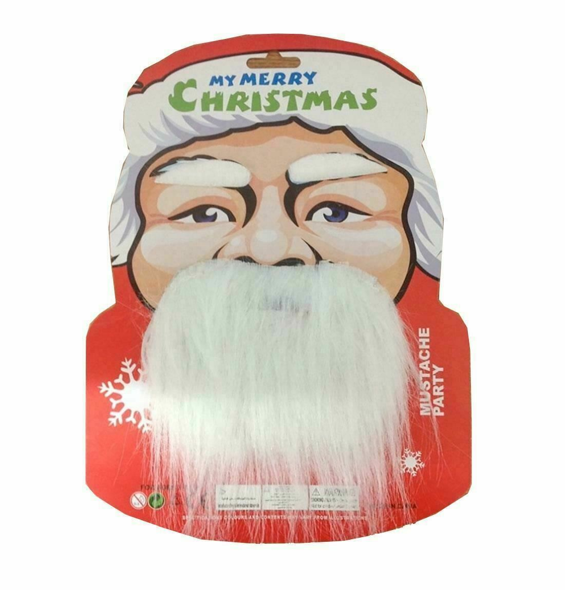 Adults Christmas Moustaches And Eye Brows Set Adult Fancy Party Wear Accessory