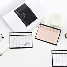 30 Sheets Weekly Planner Sticky Notes Stationery Paper Memo Pad Office Supplies