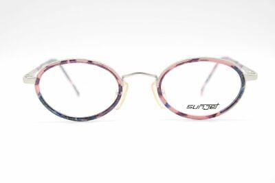2019 Moda Vintage Carrera Sunjet 4487 28 46 [] 21 140 Argento Viola Ovale Occhiali Nos-