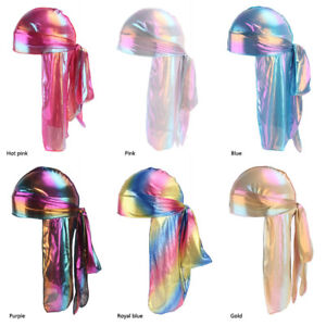 6 Pack Holographic Smooth Silky Satin Durag Ebay