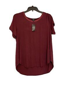 Alfani-Womens-Red-Satin-Trim-Hi-Low-Top-Blouse-Shirt-Plus-Size-2X-NWT