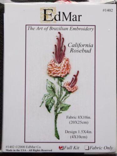 EdMar threads//choose color California Rosebud Brazilian embroidery kit #1402