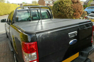 For Ford Ranger T6 Hard Tri Fold Tonneau Cover Fits With Ladder Rack Hard Cover Ebay