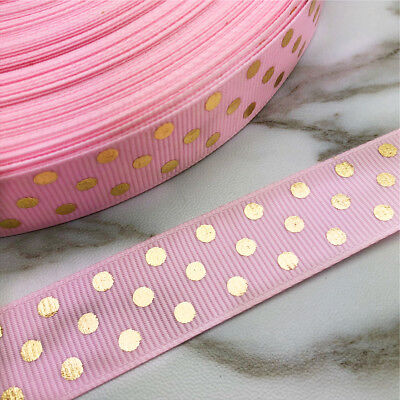 NEW DIY 5 Yards 1/'/' 25mm Lace Heart Grosgrain Ribbon Hair Bow Sewing