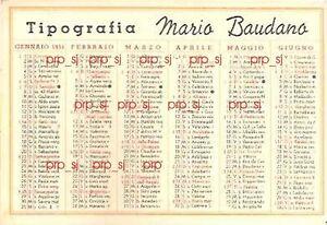 Calendario 1951.Details About Calendario 1951 Pubblicita Tipografia Torino