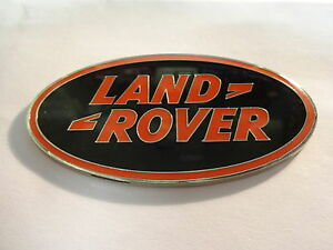 NEUF-email-CHROME-ROUGE-ET-NOIR-LAND-ROVER-VOITURE-BADGE-DISCOVERY-FREELANDER