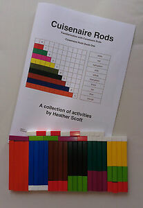Mathematical Teaching Aid Educational Resource Set of 62 Cuisenaire Rods