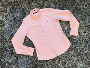 Stripe Blouse amp; 10 Shirt Once Pink White Ralph Worn Skinny Lauren Fit WxTB8Wqw6H