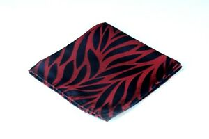 $75 New Lord R Colton Masterworks Pocket Square Lisbon Red Gray Silk
