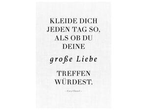 Details About Leinwand Keilrahmen Kleide Dich Jeden Tag Coco Chanel Zitat Geschenk Frau Mann