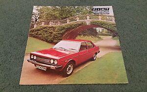 March 1976 FIAT 131 MIRAFIORI 1600 SPECIAL SALOON UK FOLDER BROCHURE R Roodhouse