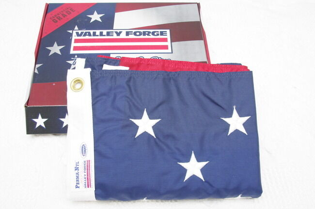 American Flag MULTI-Farbe 4'x6' sewn and Embroiderot Nylon by Valley Forge