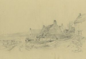 Ralph Stubbs, Sandsend Coast, Whitby – Late 19th-century graphite drawing