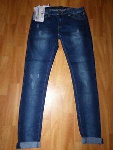 Neue Damen REALTY Jeans Gr S/36 M/38 L/40 Schmale Damenjeans Slim Fit Used Look
