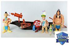Rare Disney Heroes Famosa Peter Pan Pirates Indian figures toys play set