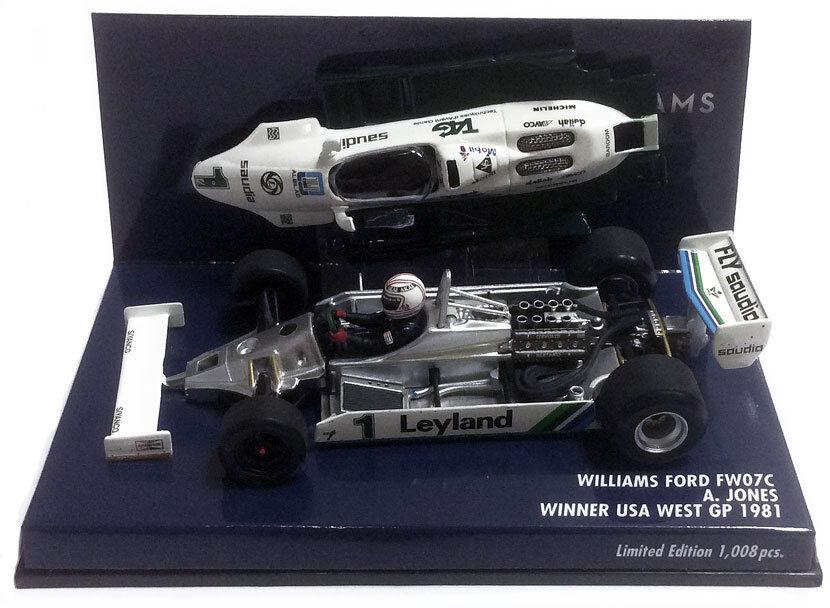 Minichamps Williams fw07c 1981-Alan Jones 1 43 Scale