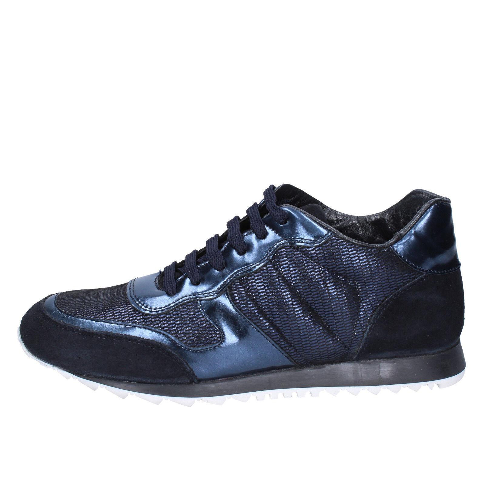 Damen schuhe TRIVER FLIGHT 41 EU sneakers blau leder wildleder BX577-41