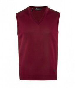 460000-495 MAERZ Herren Pullunder Bordeaux rot V-Ausschnitt Wolle Merinowolle