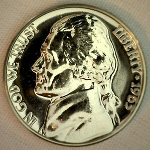 1963-Proof-Jefferson-Nickel-5c-Five-Cent-Coin-Made-in-USA-5-Cents