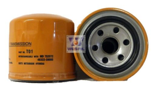WESFIL OIL Filter FOR Hyundai TRAJET 2000-ON EXTERNAL SPIN ON TO1