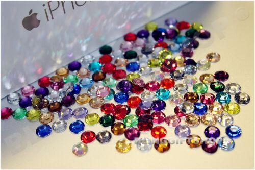 Al por mayor de resina de plano posterior de pedrería Diamante Craft Gemas 2mm-6mm a granel venta
