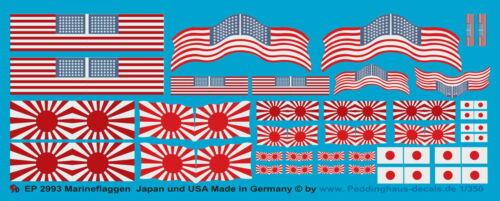 Peddinghaus-Decals 1//350 2993 Marineflaggen Japan und USA