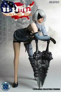 1//6 Nier Automata YoRHa No.2 Type B white costume Figure Phicen S10D body ❶USA❶