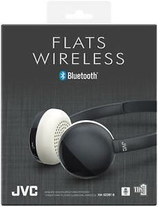 JVC Black Flats Wireless Bluetooth Headphone with Integrated Microphone & Remote