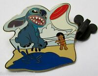 Disney Lilo And Stitch Playing Frisbee Pin