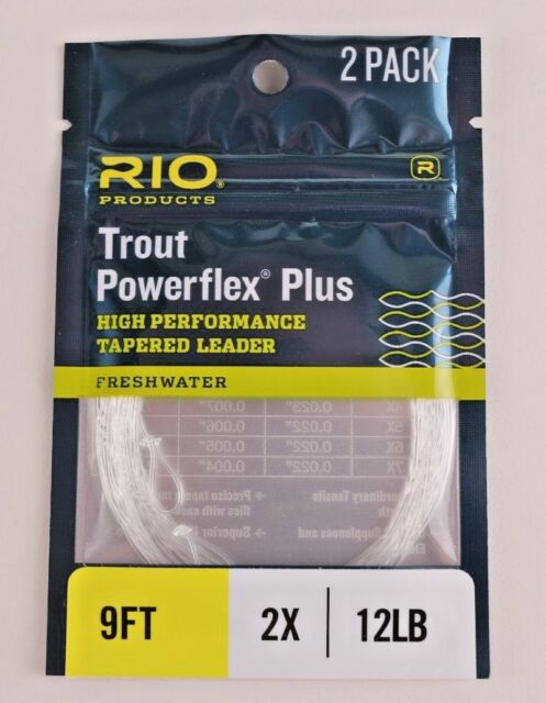 9ft 2X Tapered Leader......Plus FREE 10-Pack of 2mm Tippet Rings!