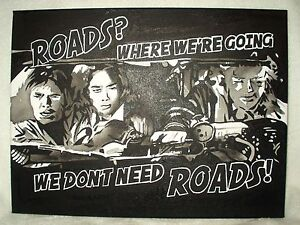 Canvas Painting Back To The Future Roads Movie Quote Bw 16x12 Inch