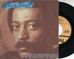 DAVE-WILLIAMS-disco-45-giri-COME-ON-DOWN-BOOGIE-PEOPLE-1978-stampa-ITALIANA