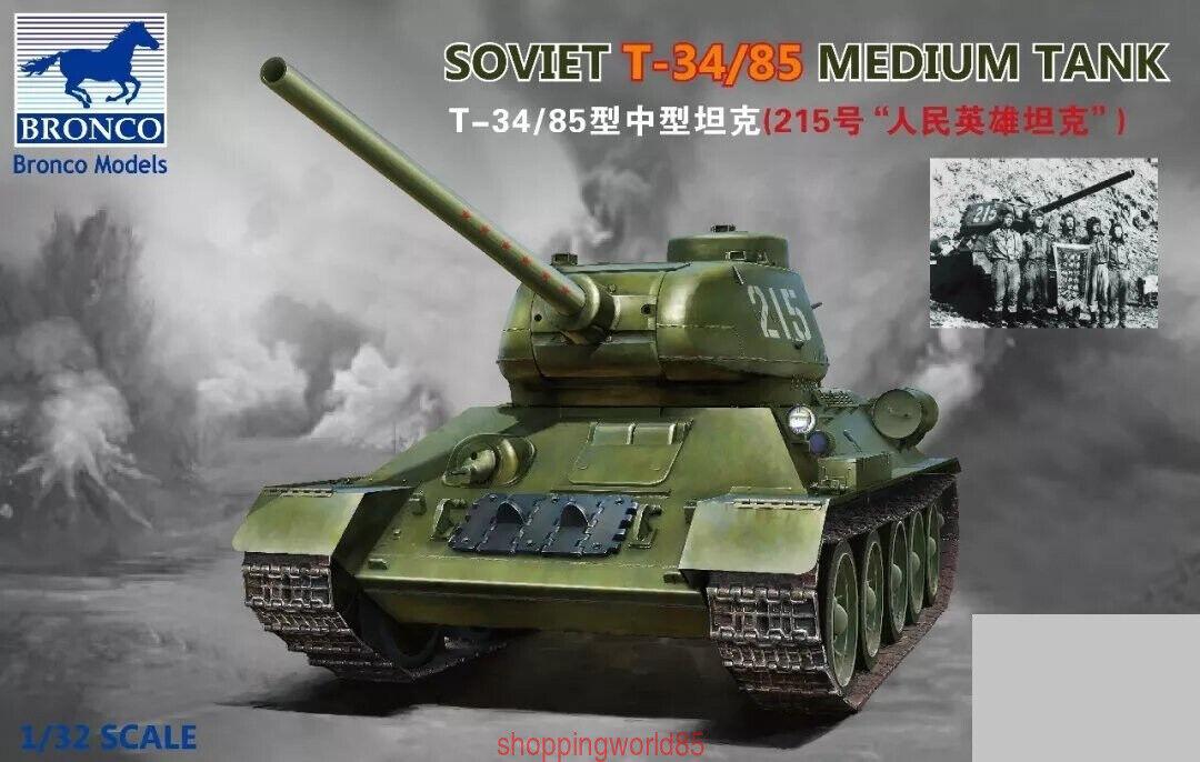 Bronco MB32001 1 32 SOVIET T-34 85 MEDIUM TANK PEOPLE HERO TANKS 2019 Jan