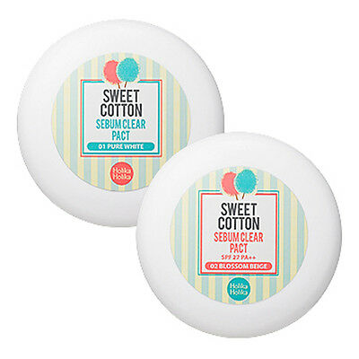 [HOLIKA HOLIKA]  Sweet Cotton Sebum Clear Pact 2type / sebum control pact