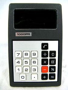 Rare-70-s-vintage-calculator-Taschenrechner-1000-PR-working-condition