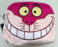 Disney Alice In Wonderland Chesire Cat Cosmetic Make-up Bag Case Purse Fuzzy