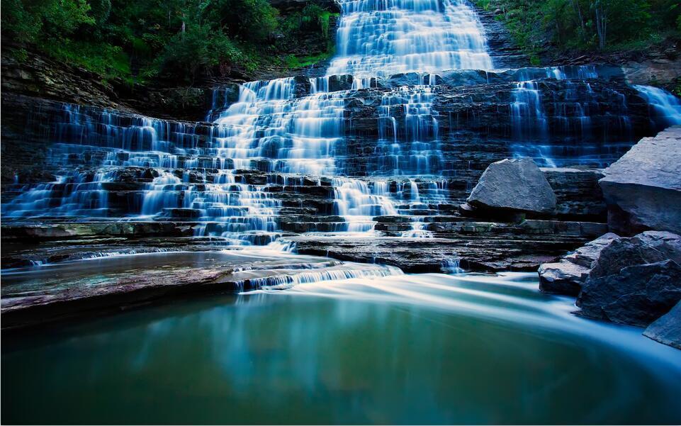 3D Wasserfall Wasserfall Wasserfall Steintreppen 8932 Fototapeten Wandbild BildTapete AJSTORE DE Lemon | Up-to-date Styling  fddc4f