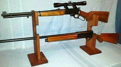 "Table Top Stand /""Gun Rack /& Sword Display/"" for 1 Gun /& 1 Katana Samurai Sword"