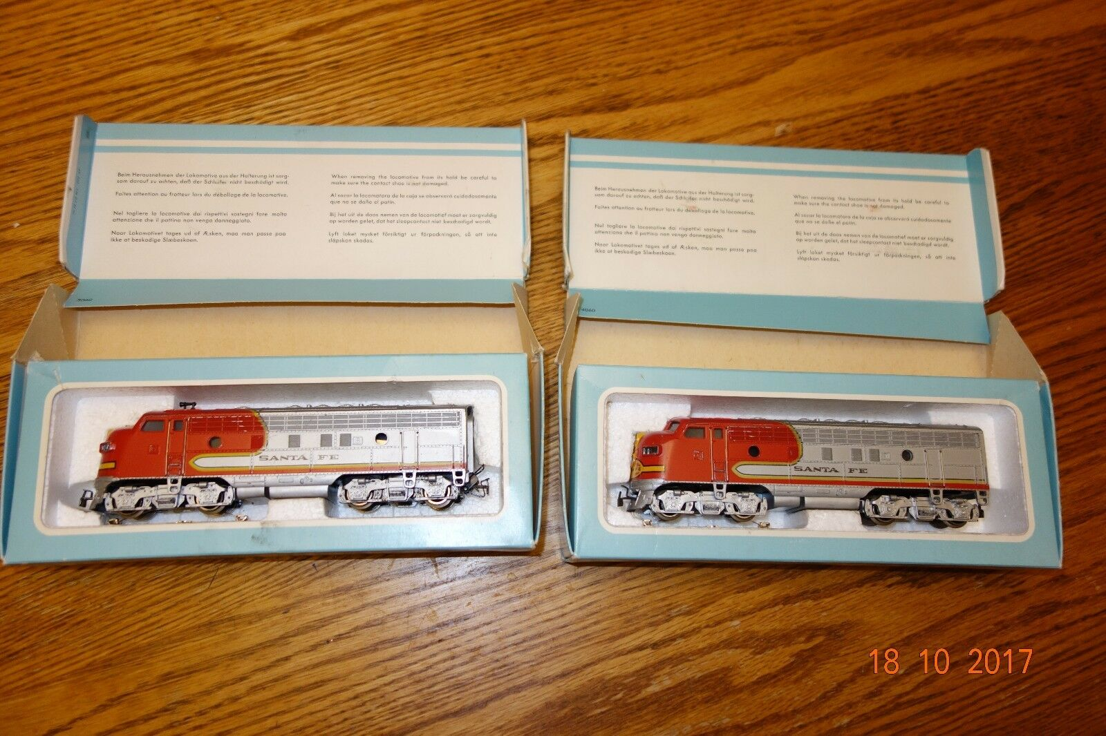 Marklin Sante Fe Diesel Locomotive 3060 and 4060 Very good condition, boxed