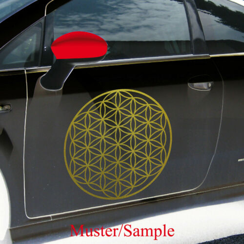 Aufkleber Tattoo 50cm gold Auto Tür Fenster Folie Blume des Lebens Lebensblume