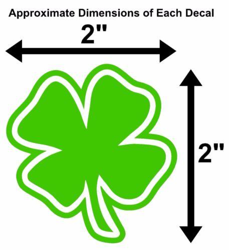 FOUR LEAF CLOVER Vinyl Decal Sticker Car Window Wall Bumper Lucky Symbol Irish 4